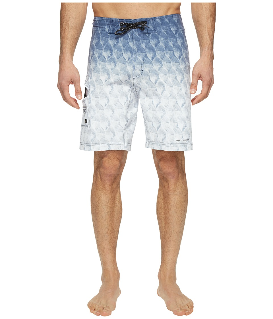 Columbia - PFG Offshore II 9 inch Board Shorts (Black Tarpon Fade) Men's Swimwear