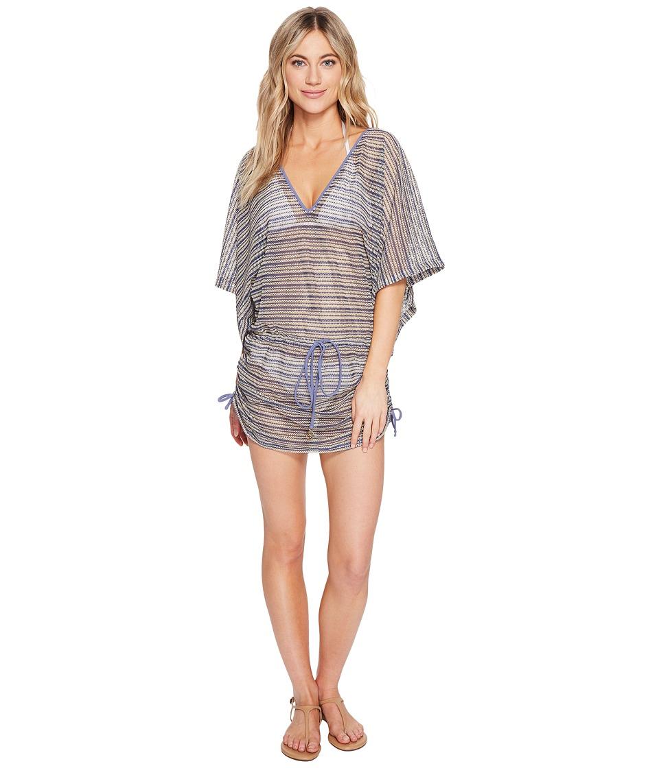 Luli Fama - Desert Babe Cabana V-Neck Dress Cover-Up (Blue Moon) Women's Swimwear