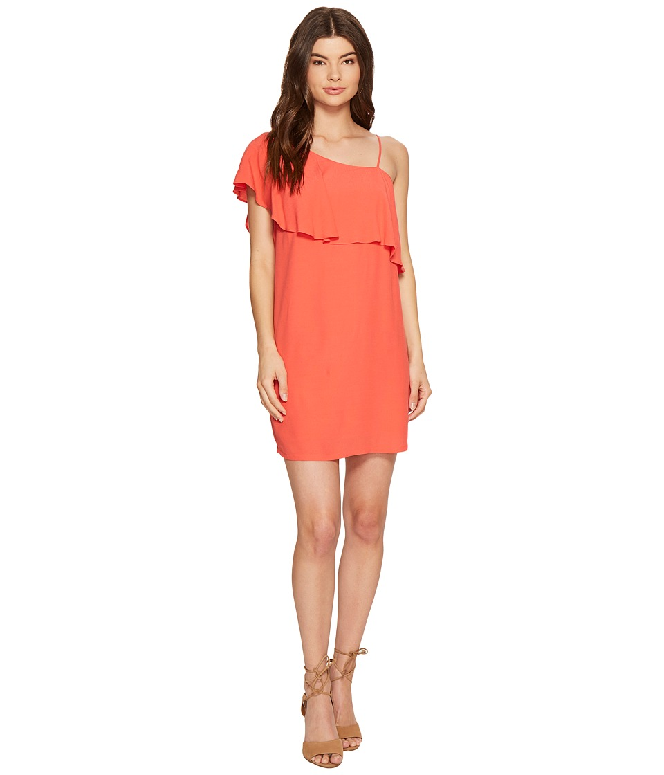 1.STATE - One Shoulder Ruffle Shift Dress (Poppy Petal) Women's Dress