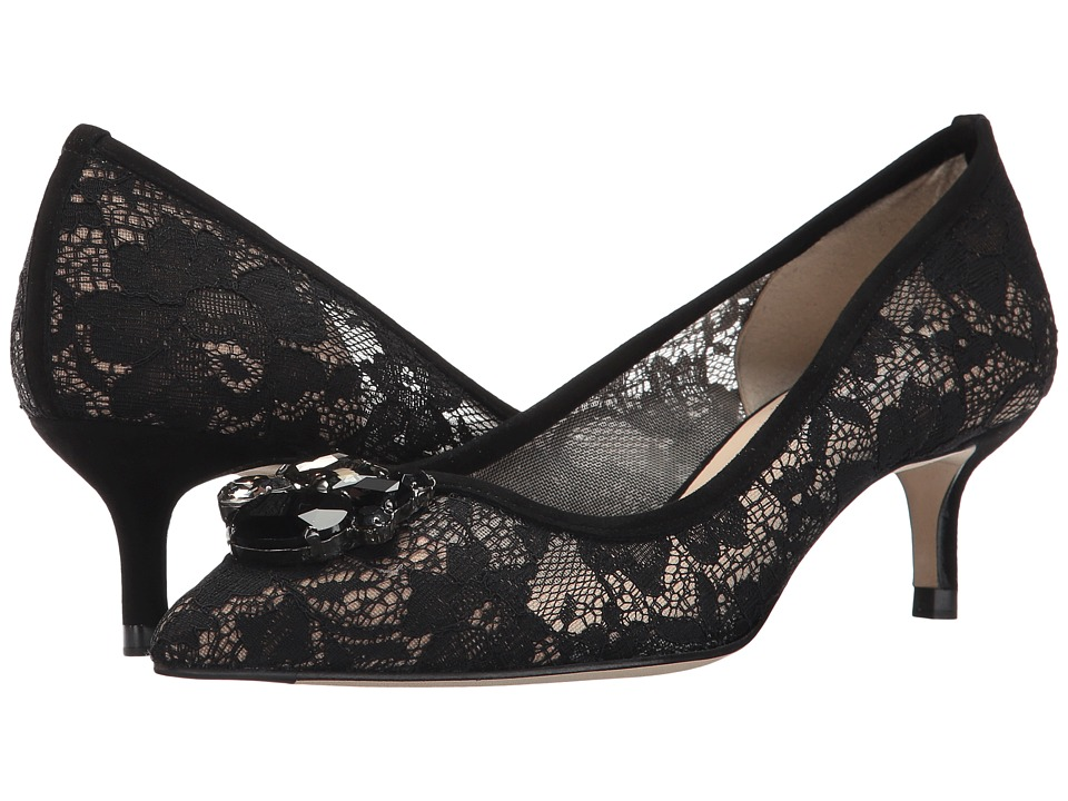 L.K. Bennett - Juliet (Black Lace Suede) Women's Shoes