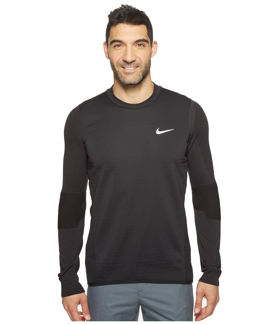 Nike - Long Sleeve Top (Black/Dark Grey) Men's Clothing