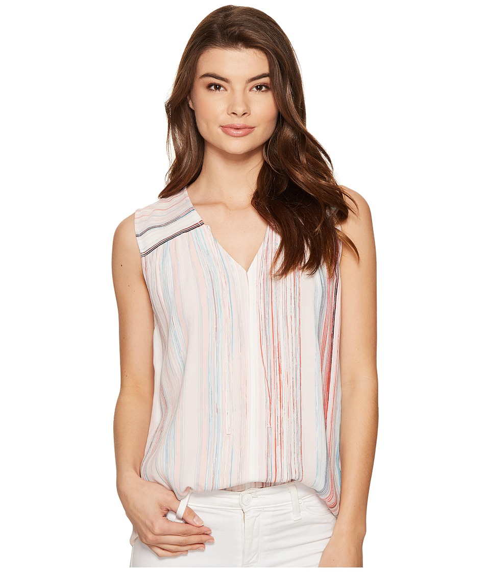 1.STATE - Blouse w/ Front Tie (Flora Pink) Women's Blouse