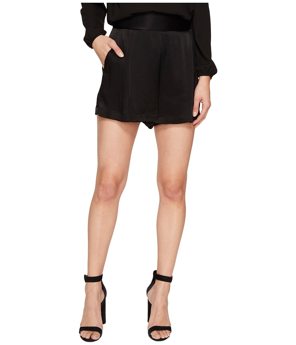 1.STATE - Flat Front Shorts (Rich Black) Women's Shorts