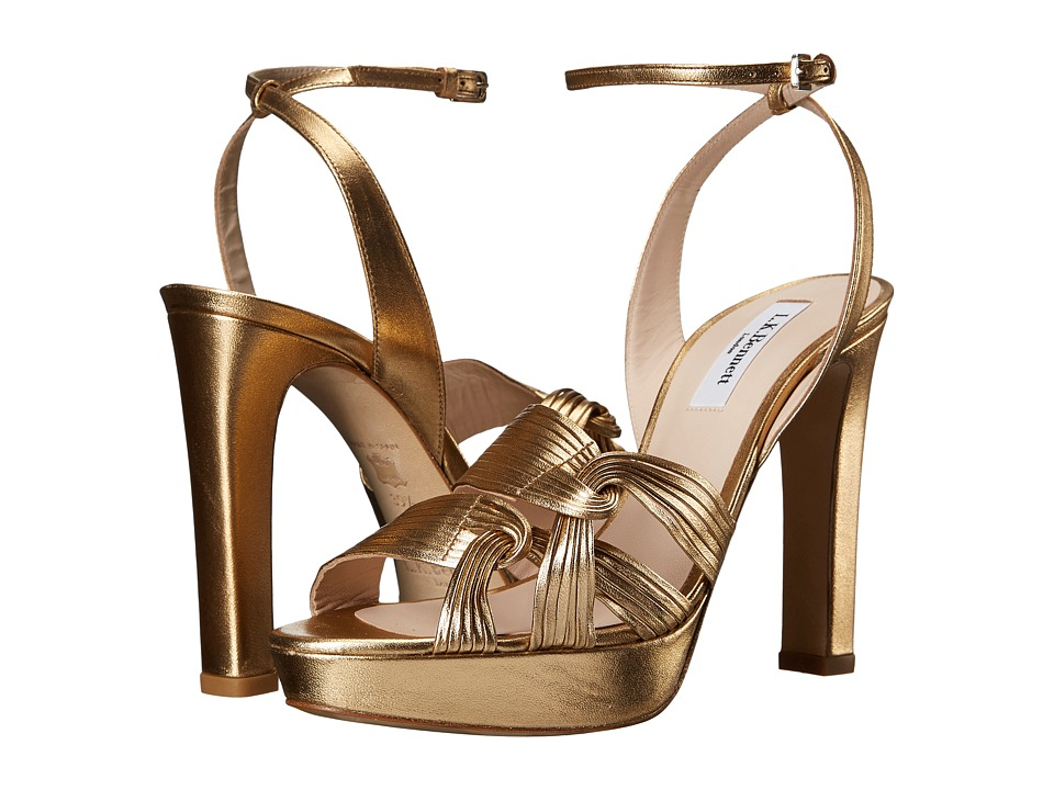 L.K. Bennett - Leighton (Gold Metallic Nappa) Women's Sandals