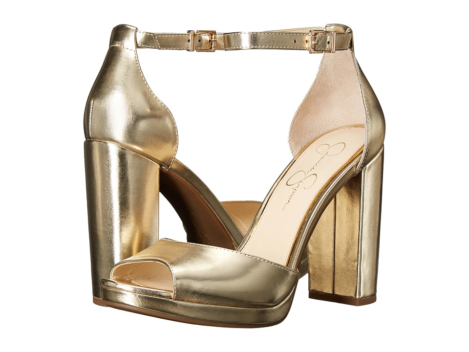 Jessica Simpson Jenee (Soft Gold Metallic Nappa) Women