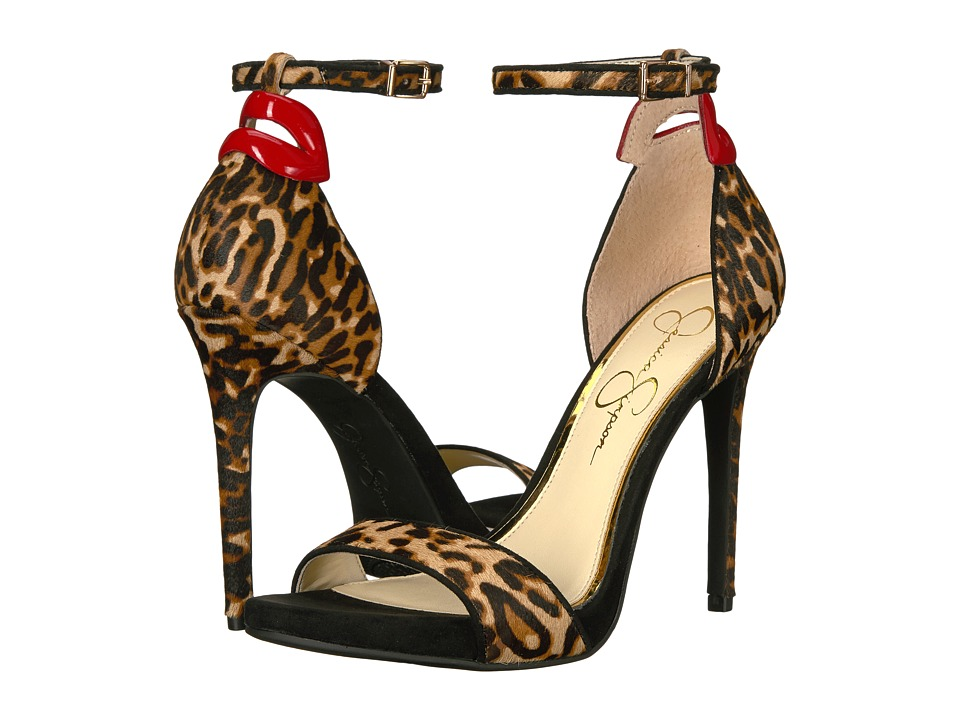 Jessica Simpson - Reenah 2 (Natural/Red Leopard Hair Calf/Patent) Women's Shoes