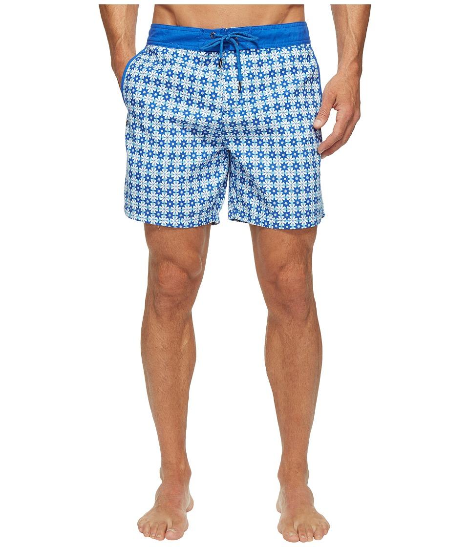 Mr. Swim Star Tile Printed Chuck Boardshorts (Turquoise) Men