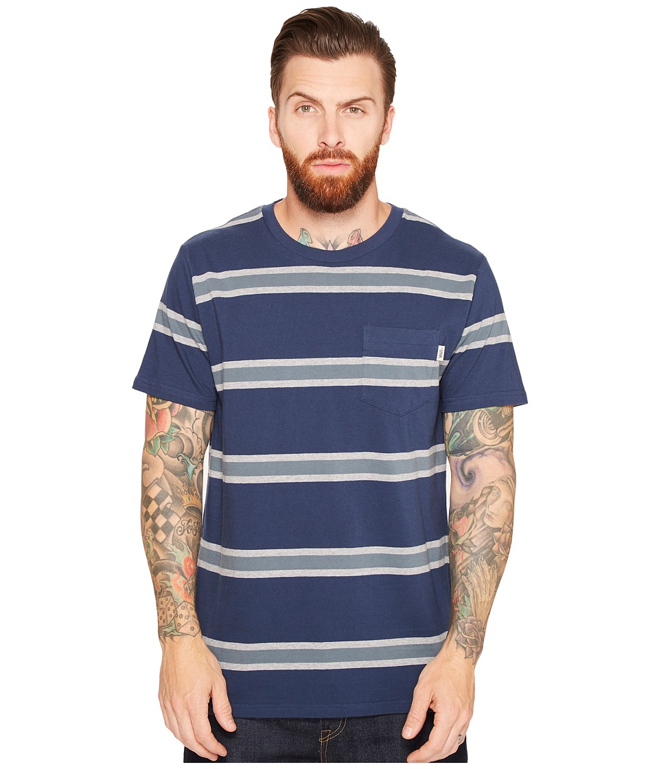 Vans - Belcaro Short Sleeve Knit (Dress Blues) Men's Clothing