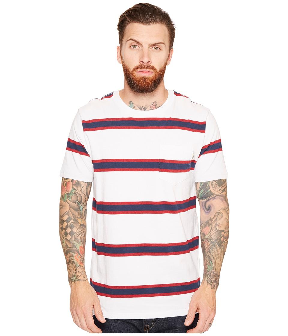 Vans - Belcaro Short Sleeve Knit (White) Men's Clothing