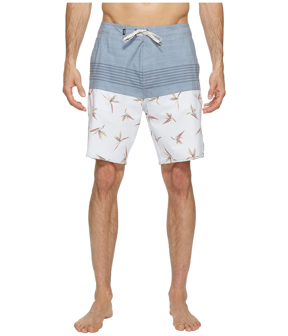 Vans - Trouble in Paradise Boardshorts 19 (White) Men's Swimwear