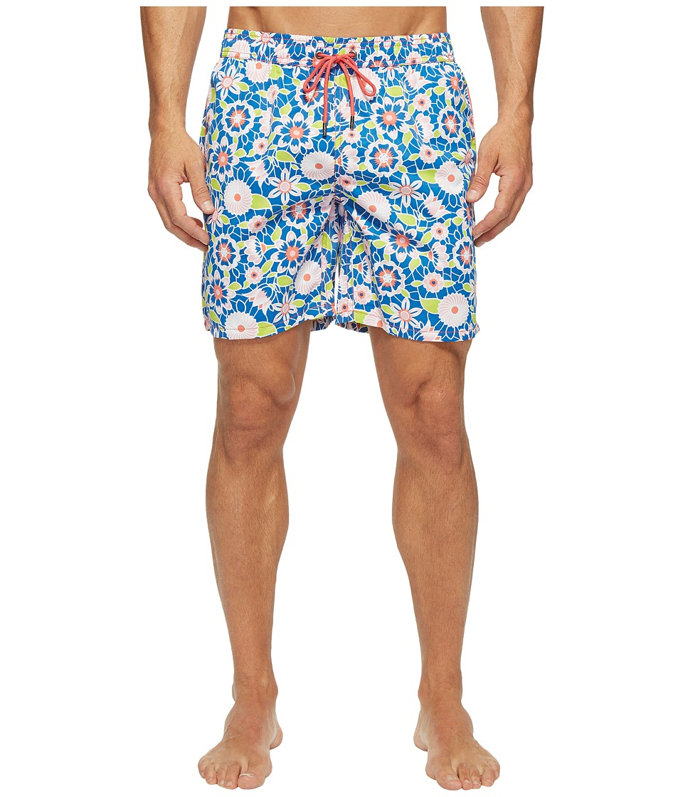 Mr. Swim - Lace Floral Printed Dale Swim Trunk (Pink) Men's Swimwear