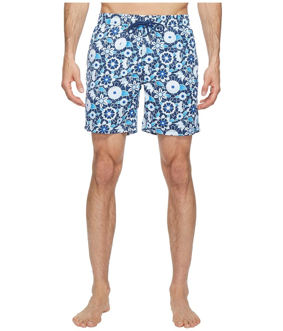 Mr. Swim Lace Floral Printed Dale Swim Trunk (Blue) Men
