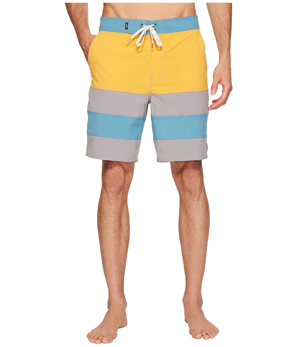 Vans - Era Panel Boardshorts 19 (Golden Glow/Frost Grey) Men's Swimwear