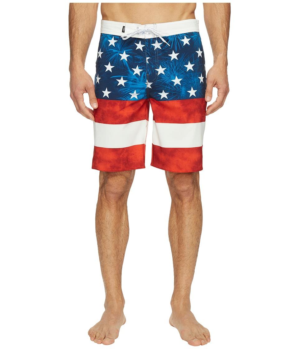 Vans - Era Stretch Boardshorts 20 (American Flag) Men's Swimwear