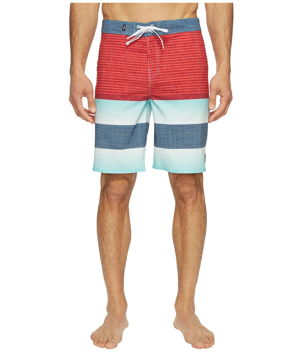 Vans - Era Stretch Boardshorts 20 (Racing Red Vertex Stripe) Men's Swimwear