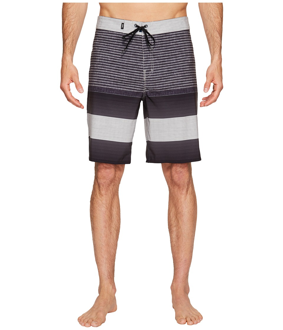 Vans - Era Stretch Boardshorts 20 (Black Vertex Stripe) Men's Swimwear