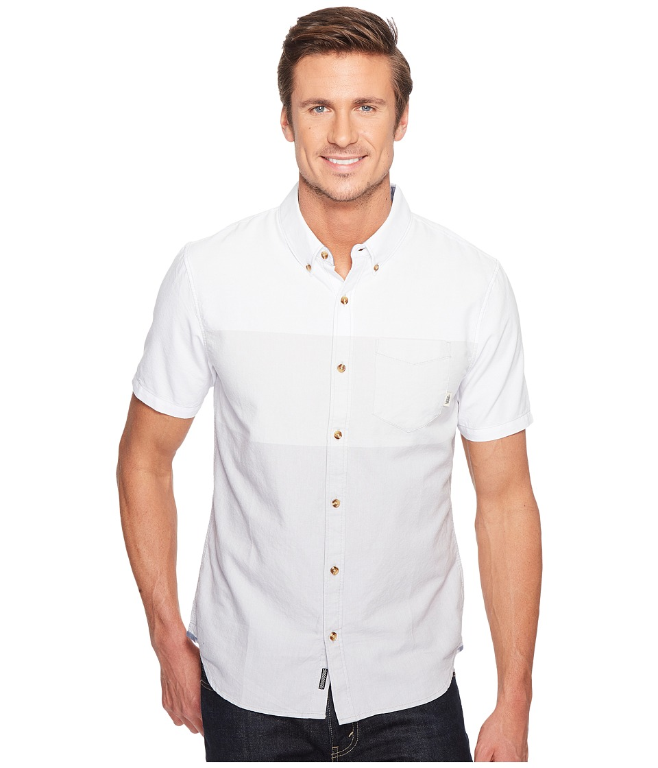 Vans - Hemlock Short Sleeve Woven (White Pebble) Men's Clothing
