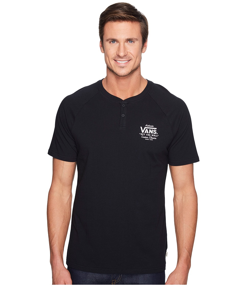Vans - Holder Street Short Sleeve Henley (Black) Men's Clothing