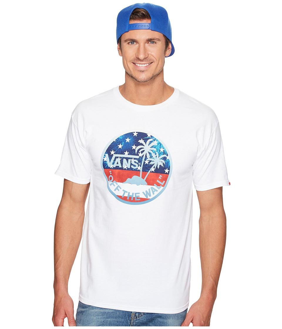 Vans - Dual Palm Fill Tee (White/American Flag) Men's T Shirt