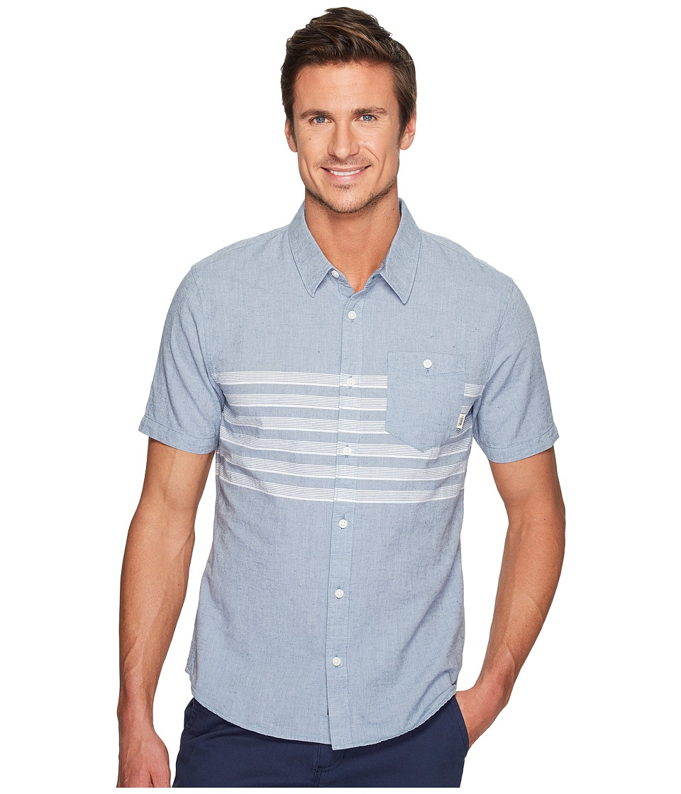 Vans - Wallace Short Sleeve Woven (Blue Mirage) Men's Clothing
