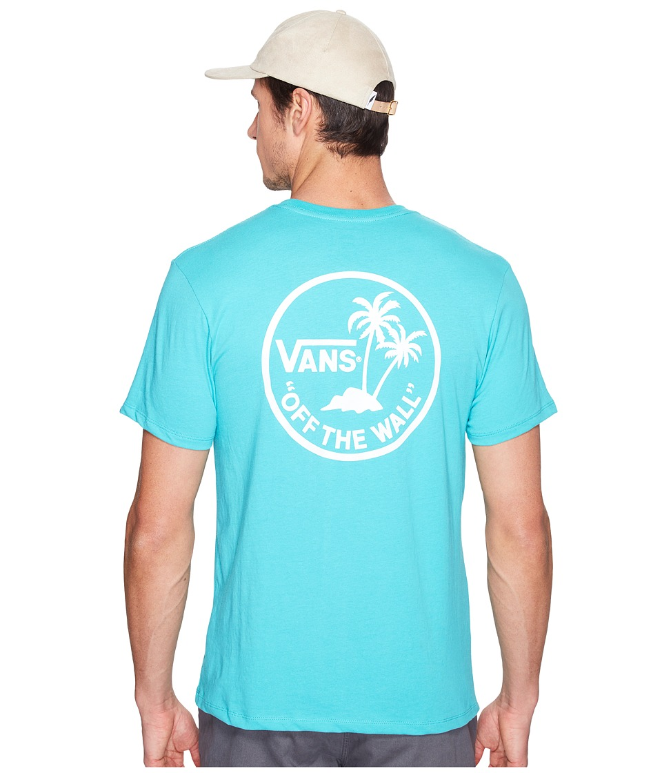 Vans - Mini Dual Palm (Teal/White) Men's Short Sleeve Pullover