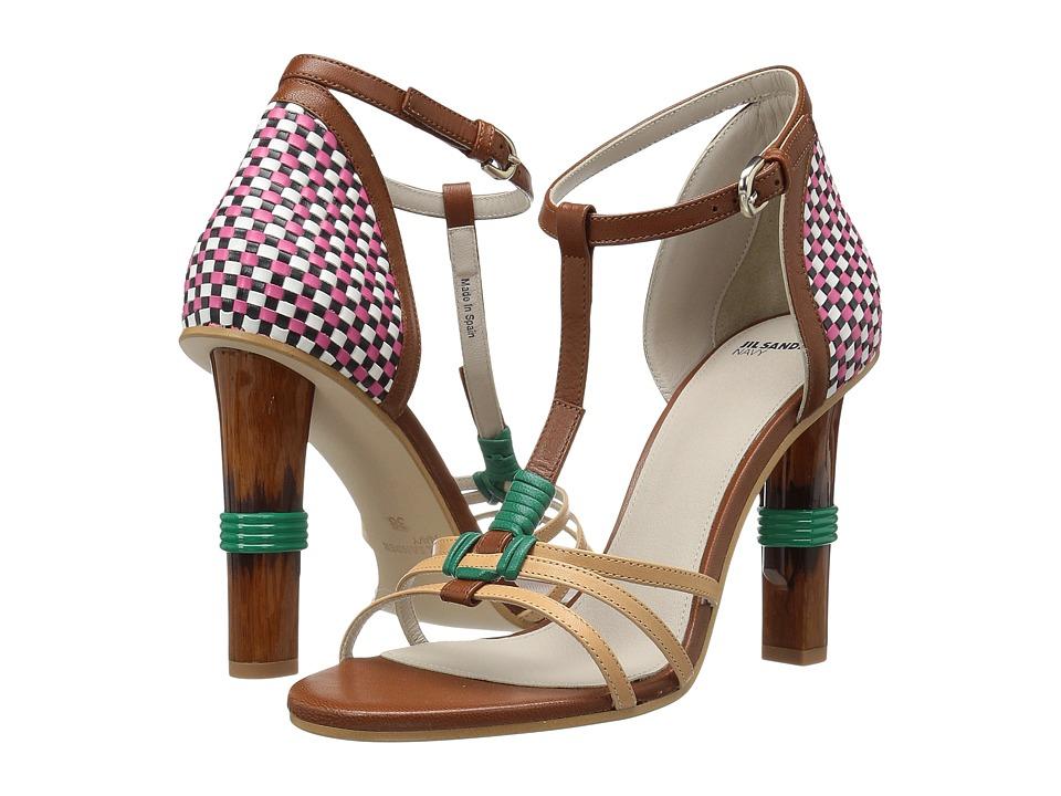 Jil Sander Navy - JN28001 (Apricot/Shine Goat Tamp) Women's Sandals