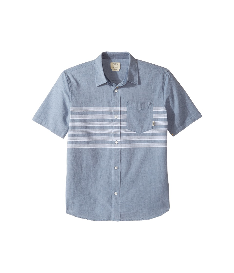 Vans Kids - Wallace Short Sleeve Woven (Big Kids) (Blue Mirage) Boy's Clothing
