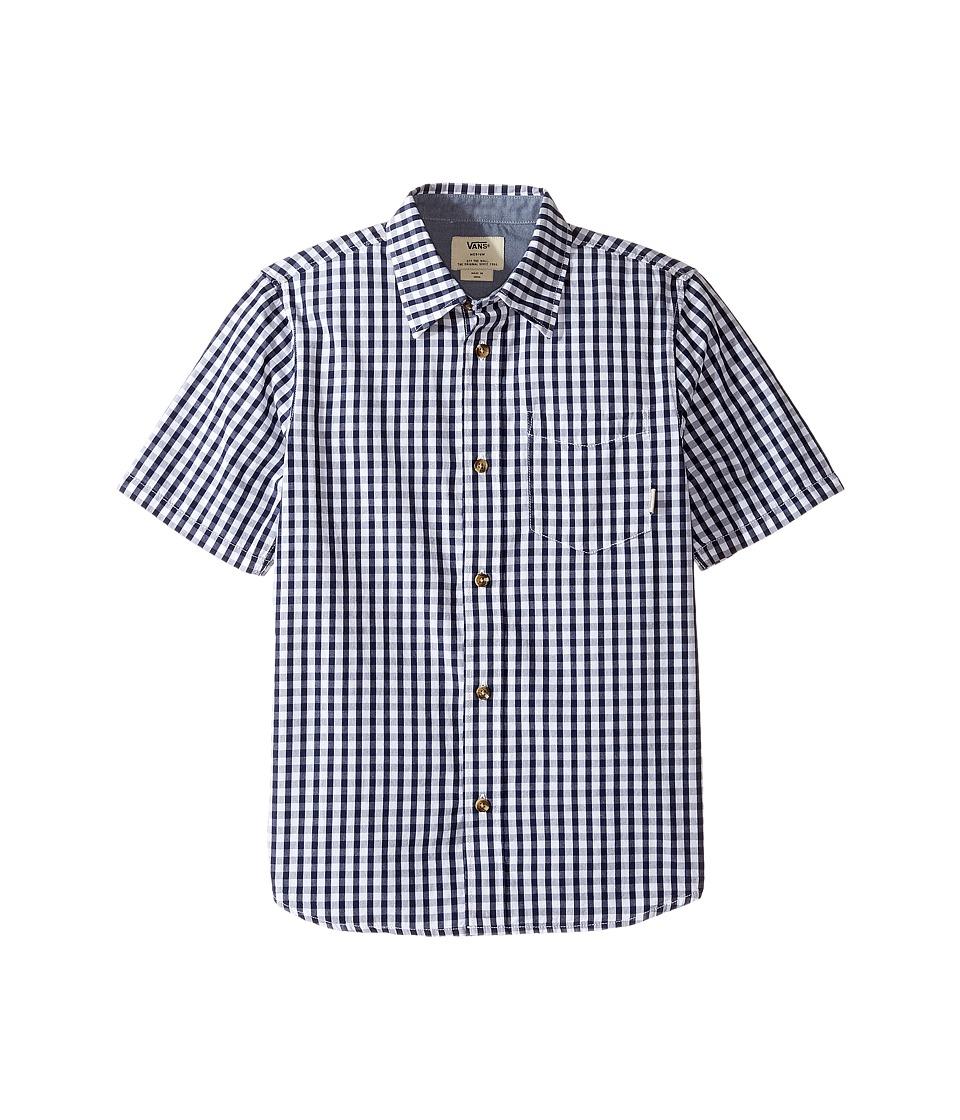 Vans Kids - Resh Short Sleeve Woven (Big Kids) (Dress Blues/White) Boy's Clothing