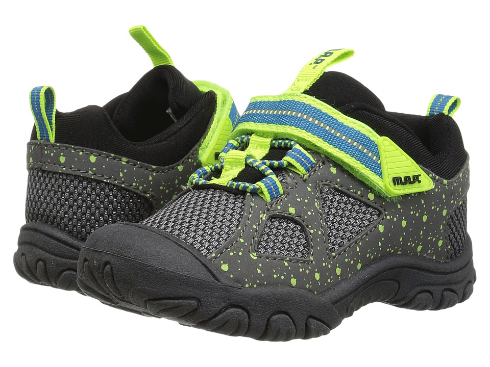 M.A.P. - Tephra (Toddler) (Grey/Neon) Boy's Shoes