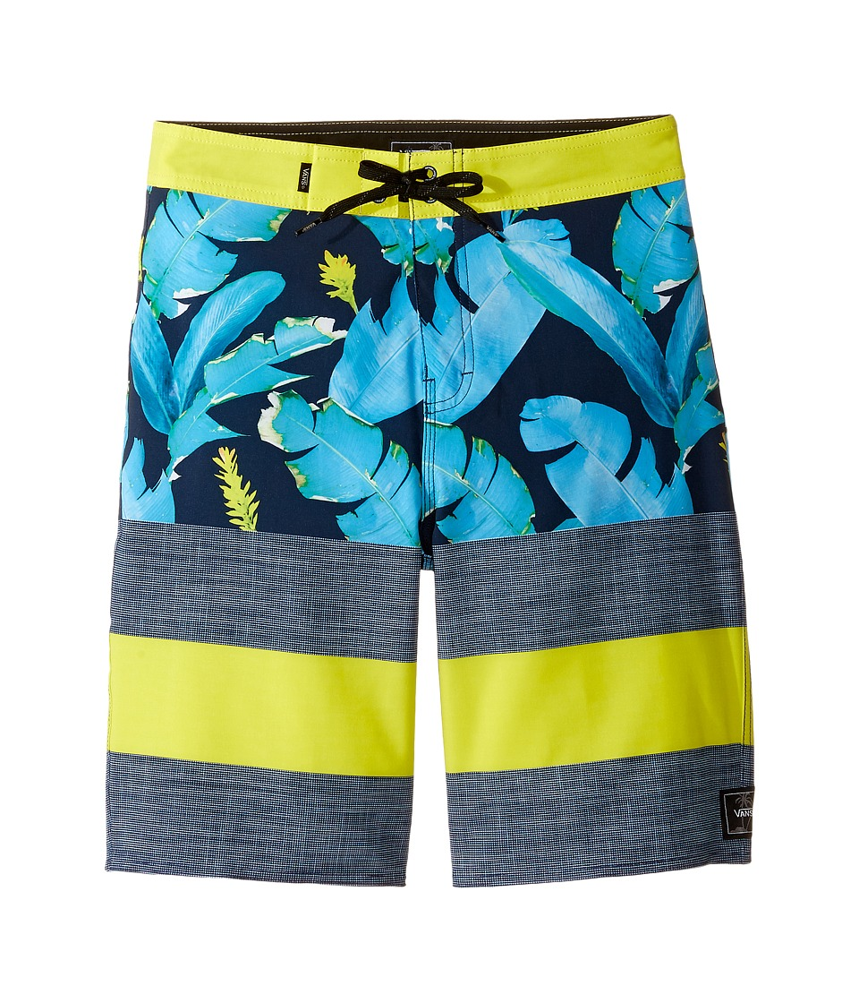 Vans Kids - Era Stretch Boardshorts (Little Kids/Big Kids) (Dress Blues Bonsai Leaf) Boy's Swimwear