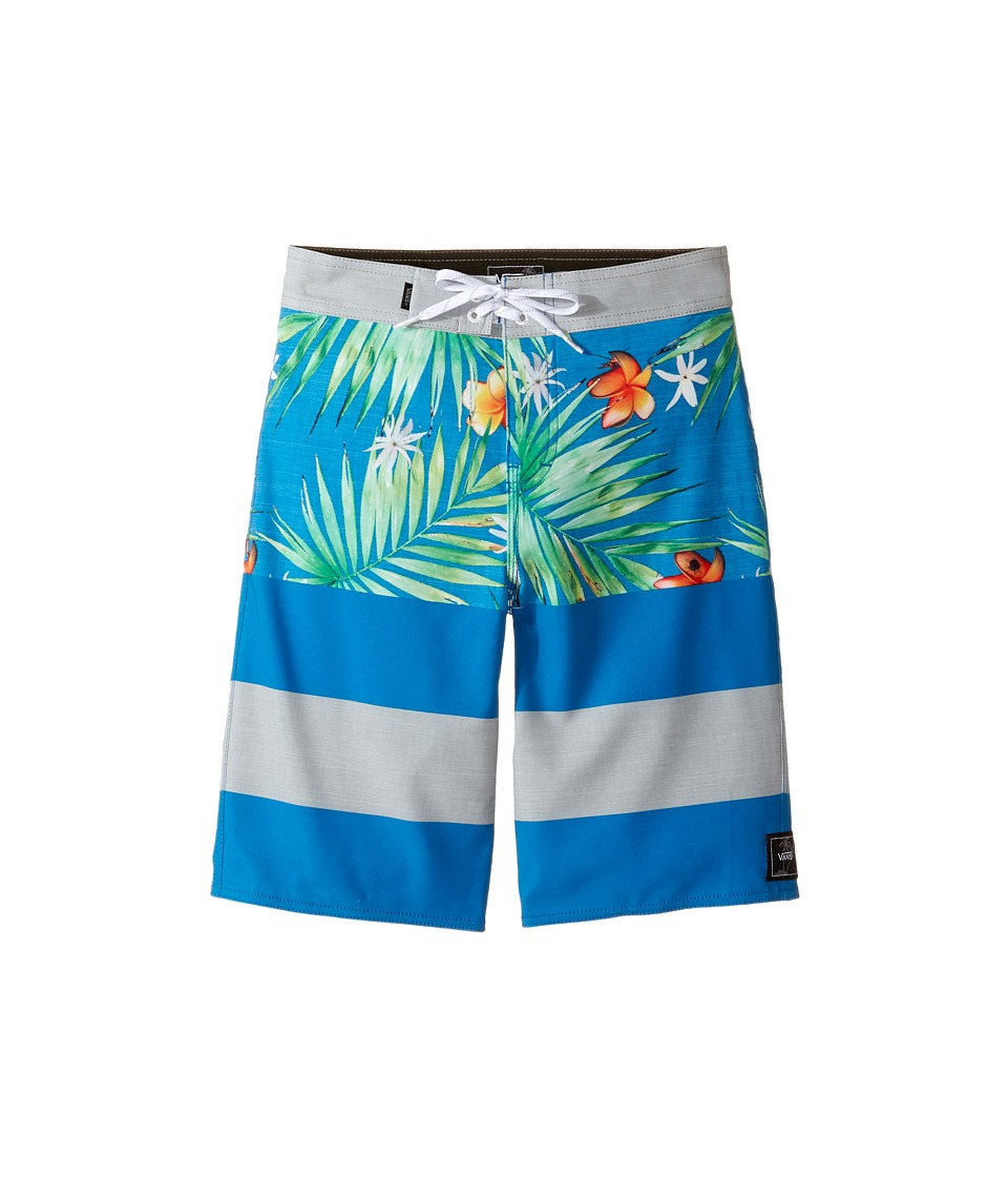 Vans Kids Era Stretch Boardshorts (Little Kids/Big Kids) (Imperial Blue Decay Palm) Boy