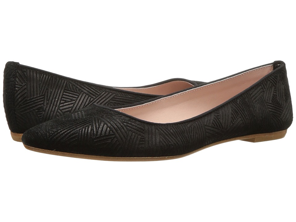 Summit by White Mountain - Kamora (Black Embossed Suede) Women's Flat Shoes