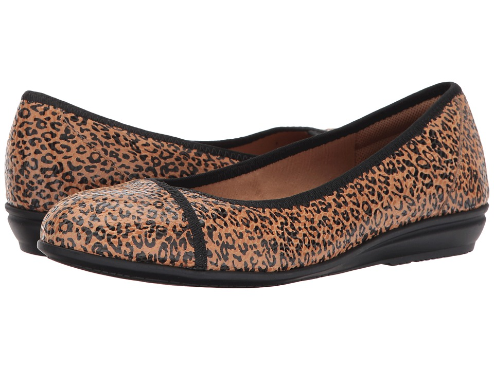 Comfortiva Eaton (Tan Mini Leopard Foil Suede) Women