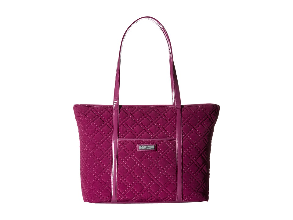 Vera Bradley - Trimmed Vera Laptop Tote (Plum/Plum Trim) Tote Handbags