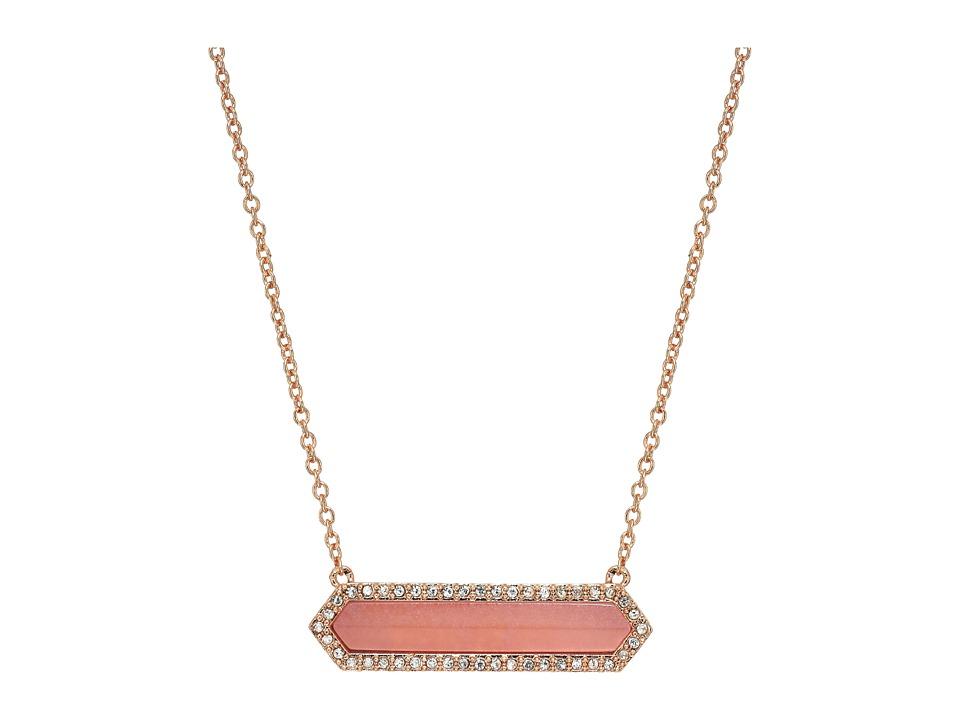 Vera Bradley - Symmetry Necklace (Rose Gold Tone) Necklace