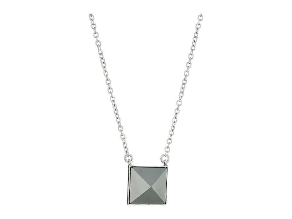 Vera Bradley - Casual Glam Pendant Necklace (Silver Tone) Necklace