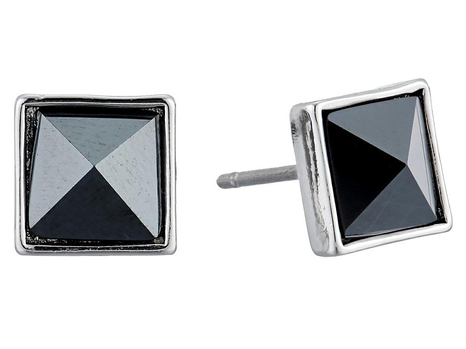 Vera Bradley - Casual Glam Stud Earrings (Silver Tone) Earring