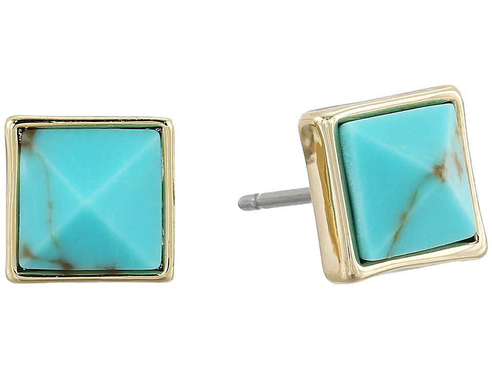 Vera Bradley - Casual Glam Stud Earrings (Gold Tone) Earring