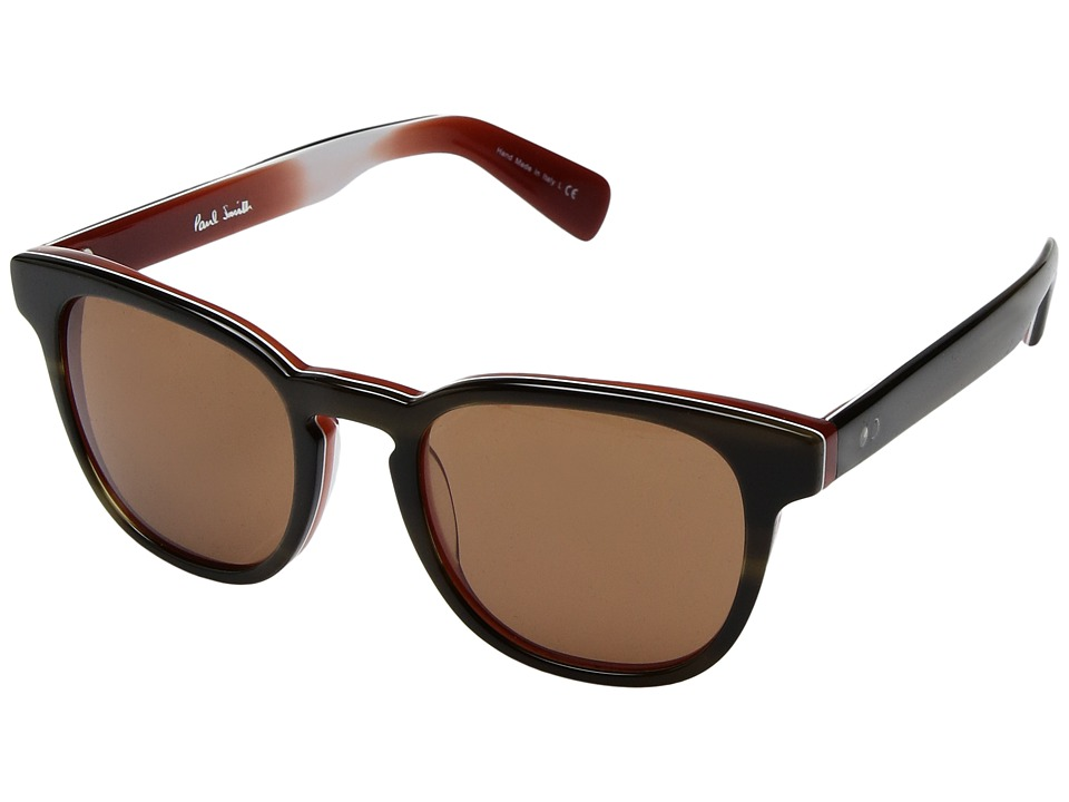 Paul Smith - Hadrian Sun (Olive Tortoise/Rust/Persimmon) Fashion Sunglasses