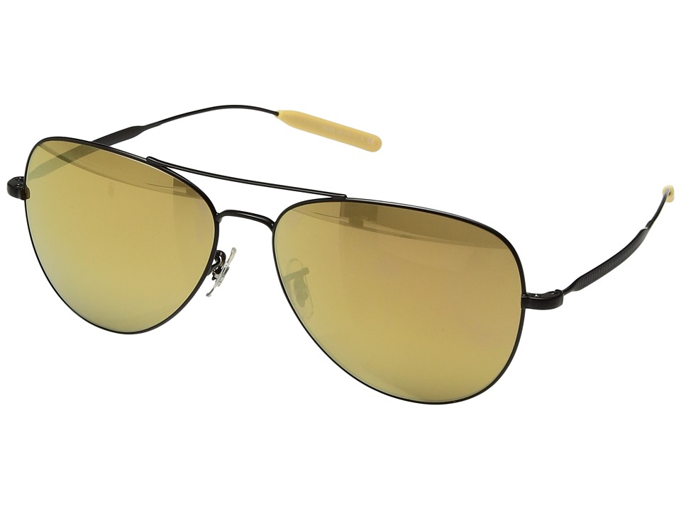 Paul Smith - Davison (Matte Black/Gold Mirror Glass) Fashion Sunglasses