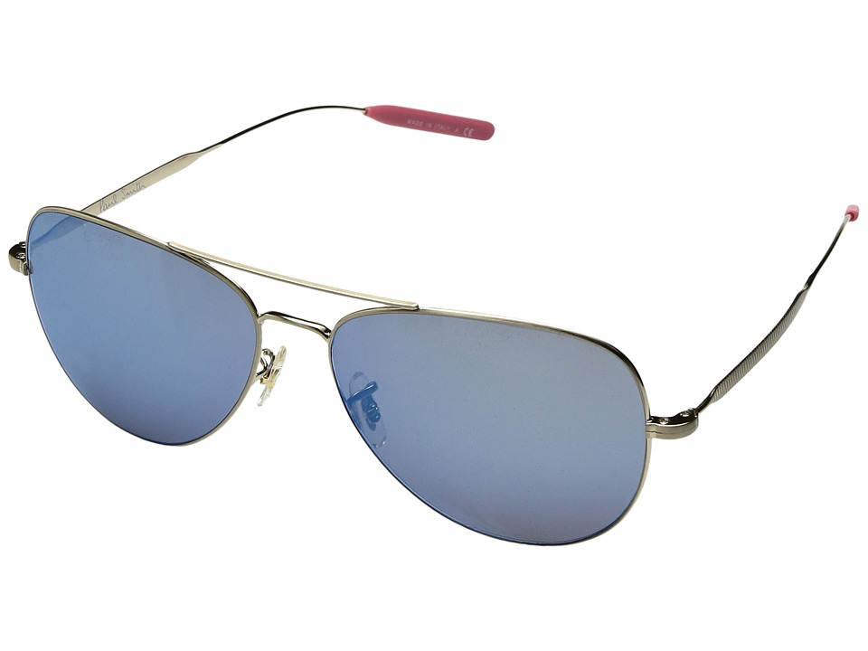 Paul Smith - Davison (Brushed Gold/Blue Mirror Glass) Fashion Sunglasses