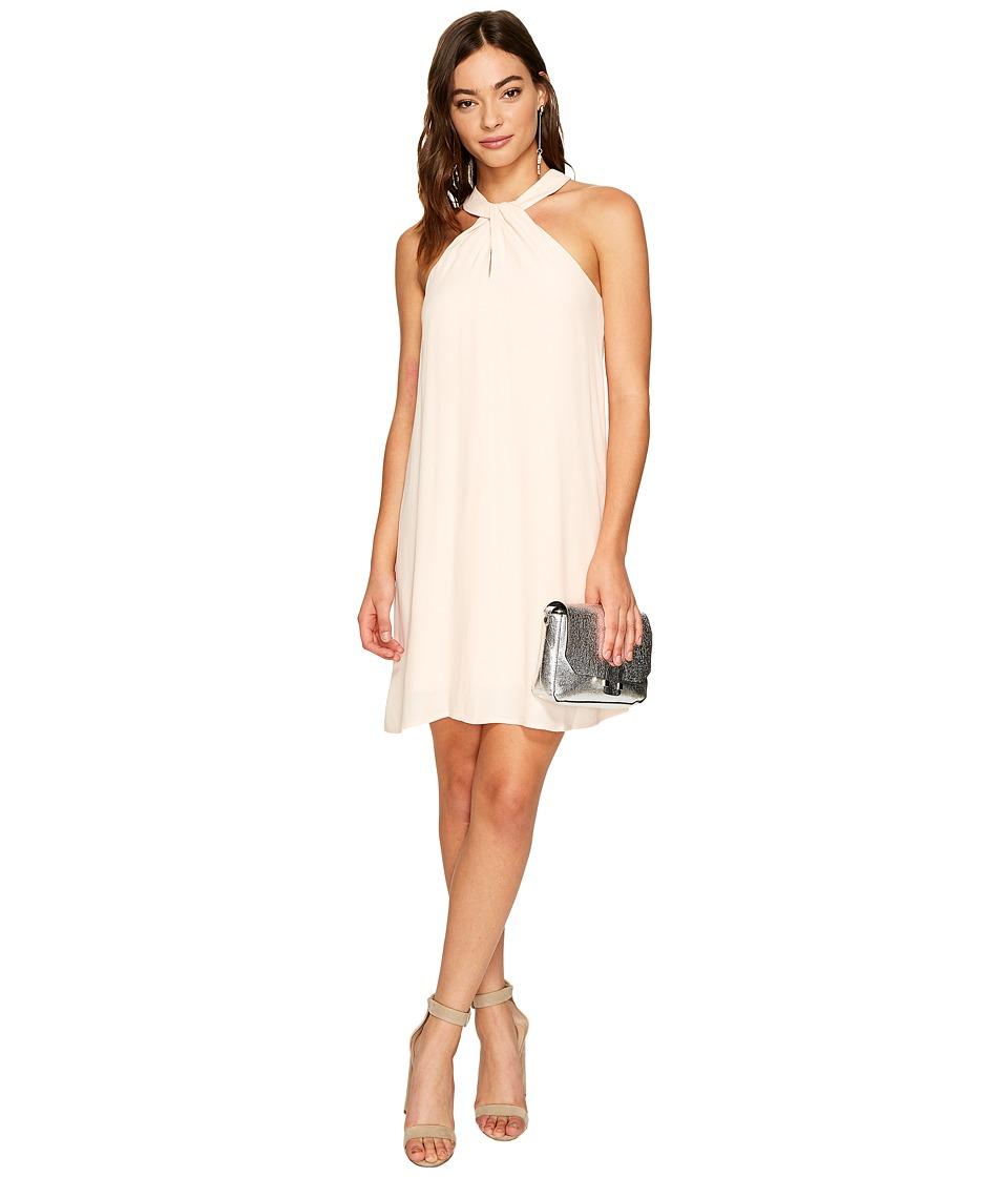 1.STATE Halter Neckline Shift Dress (Dawn Blush) Women