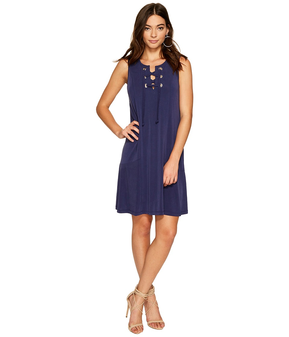 1.STATE Lace-Up Shift Dress