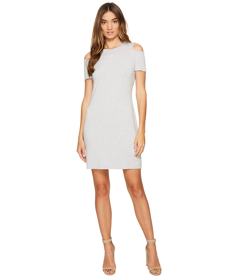 1.STATE - Cold Shoulder Knit Dress (Swan Heather) Women's Dress