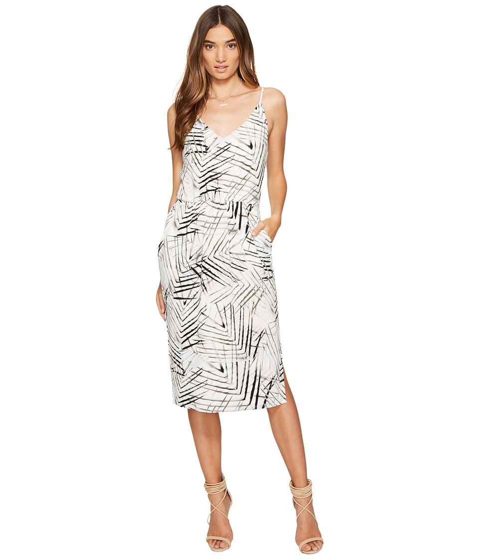 1.STATE - Spaghetti Strap V-Neck Dress w/ Slits (Cloud) Women's Dress