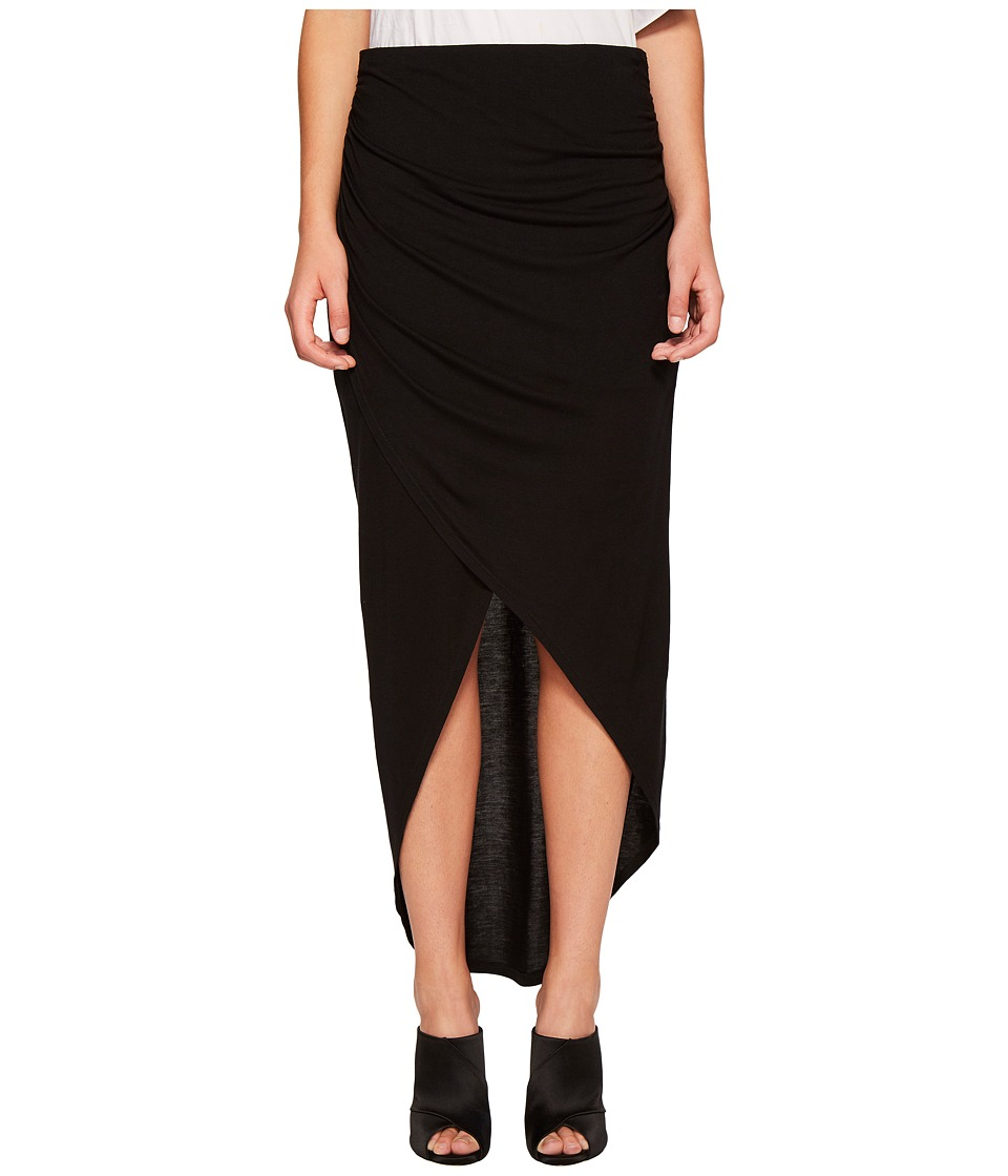 1.STATE - Wrap Front High-Low Skirt (Rich Black) Women's Skirt