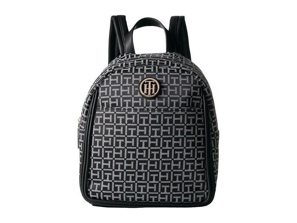 Tommy Hilfiger - Alice Backpack (Black/White) Backpack Bags