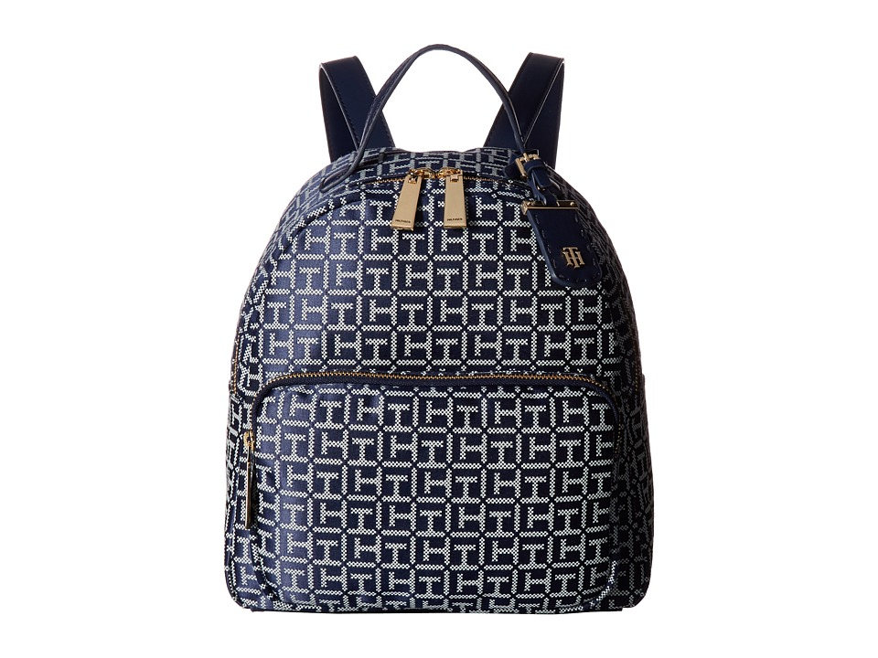 Tommy Hilfiger - Julia Dome Backpack (Navy/White) Backpack Bags