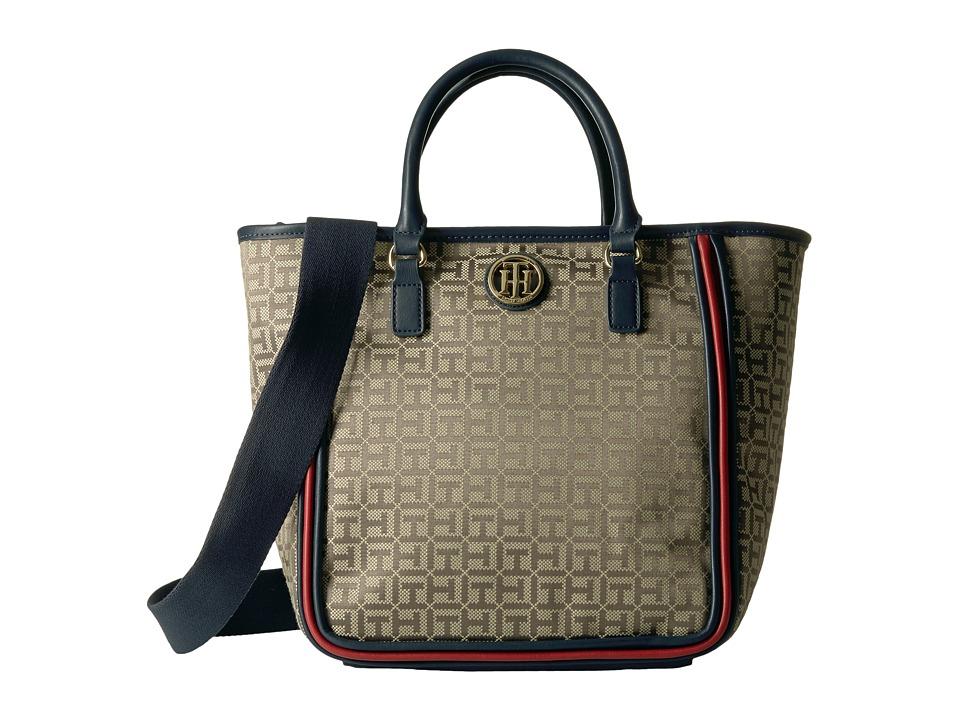 Tommy Hilfiger - Alice Convertible Shopper (Tan/Dark Chocolate) Tote Handbags