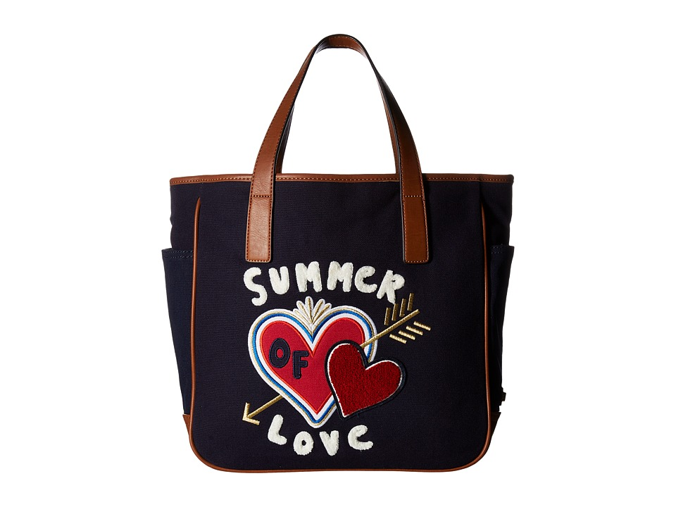 Tommy Hilfiger - Emily Tote w/ Summer Love (Tommy Navy) Tote Handbags